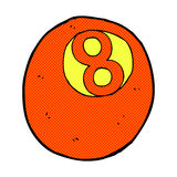 Comic cartoon pool ball. Retro comic book style cartoon pool ball vector illustration