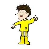 comic cartoon poor boy with positive attitude Royalty Free Stock Image