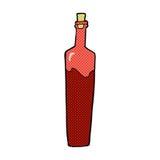 Comic cartoon posh bottle. Retro comic book style cartoon posh bottle Stock Photos