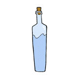 Comic cartoon posh bottle Stock Image