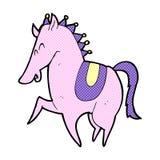 Comic cartoon prancing horse Royalty Free Stock Photography