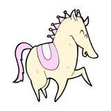 Comic cartoon prancing horse Stock Image