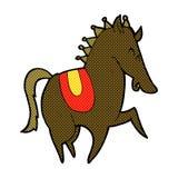 Comic cartoon prancing horse Stock Photography