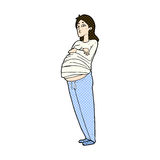 Comic cartoon pregnant woman Royalty Free Stock Photography