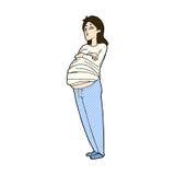 comic cartoon pregnant woman Royalty Free Stock Photography