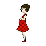 comic cartoon pregnant woman Stock Photography