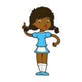 Comic cartoon pretty maid woman Stock Images