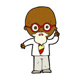 Comic cartoon professor Royalty Free Stock Image