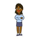 Comic cartoon proud woman Stock Images