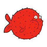 Comic cartoon puffer fish. Retro comic book style cartoon puffer fish Royalty Free Stock Photos