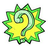 comic cartoon question mark Royalty Free Stock Photo