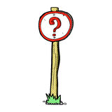 comic cartoon question mark sign Royalty Free Stock Images