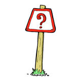 comic cartoon question mark sign Stock Image