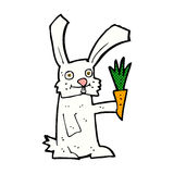 Comic cartoon rabbit with carrot Royalty Free Stock Images