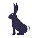 Comic cartoon rabbit Stock Image