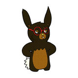 Comic cartoon rabbit wearing spectacles Stock Image