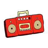 comic cartoon radio cassette player Royalty Free Stock Photography