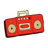 comic cartoon radio cassette player Royalty Free Stock Photography