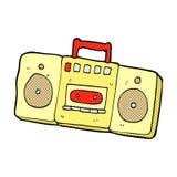 Comic cartoon radio cassette player Royalty Free Stock Image