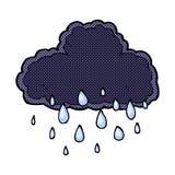 Comic cartoon raincloud Stock Photography