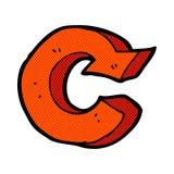comic cartoon recycling symbol Stock Images