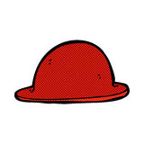 comic cartoon red bowler hat Royalty Free Stock Images
