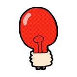 Comic cartoon red light bulb. Retro comic book style cartoon red light bulb Royalty Free Stock Photography