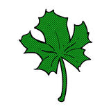 Comic cartoon red maple leaf Royalty Free Stock Image
