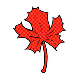 Comic cartoon red maple leaf Royalty Free Stock Photography