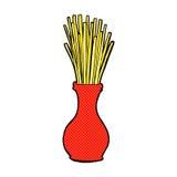 Comic cartoon reeds in vase Stock Photos