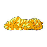 Comic cartoon resting tiger Stock Photos