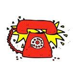comic cartoon ringing telephone Royalty Free Stock Images