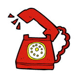 comic cartoon ringing telephone Royalty Free Stock Photo