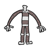 comic cartoon robot body (mix and match comic cartoons or add ow Stock Photography