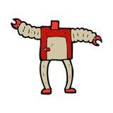 comic cartoon robot body (mix and match comic cartoons or add ow Stock Images