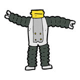 Comic cartoon robot body (mix and match comic cartoons or add ow Royalty Free Stock Image