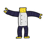 comic cartoon robot body (mix and match comic cartoons or add ow Royalty Free Stock Photography