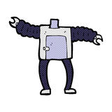 comic cartoon robot body (mix and match comic cartoons or add ow Stock Photo