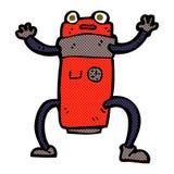 comic cartoon robot Royalty Free Stock Images