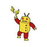 comic cartoon robot Royalty Free Stock Photo