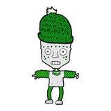 comic cartoon robot wearing hat Royalty Free Stock Photo