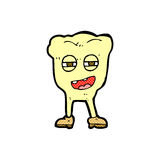 Comic cartoon rotten tooth character. Retro comic book style cartoon rotten tooth character Stock Photography