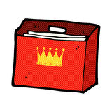 comic cartoon royal business files Stock Photo
