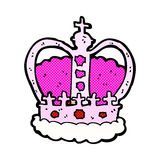 comic cartoon royal crown Stock Photos