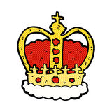 comic cartoon royal crown Stock Images