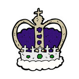 comic cartoon royal crown Royalty Free Stock Images