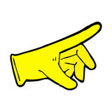 Comic cartoon rubber glove. Retro comic book style cartoon rubber glove Royalty Free Stock Photography