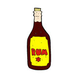 comic cartoon rum bottle Royalty Free Stock Images