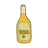 Comic cartoon rum bottle Stock Photos