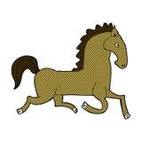 Comic cartoon running horse Stock Photography